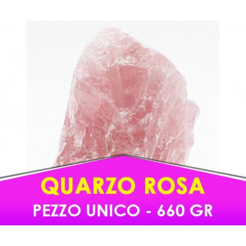 QUARZO ROSA -  660 gr - Pietra caricata con procedimento speciale -  PEZZO UNICO