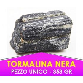 TORMALINA NERA - 353gr - Pietra caricata con procedimento speciale -  PEZZO UNICO