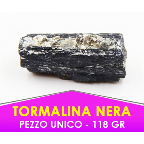 TORMALINA NERA - 118gr - Pietra caricata con procedimento speciale -  PEZZO UNICO