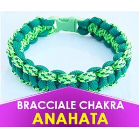 """Bracciale Chakra VERDE """"Anahata"""" in Paracord (Spedizione Gratuita)"""