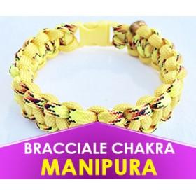 """Bracciale Chakra GIALLO """"Manipura"""" in Paracord (Spedizione Gratuita)"""
