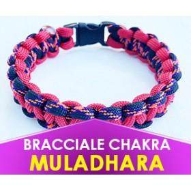 """Bracciale Chakra ROSSO """"Muladhara"""" in Paracord (Spedizione Gratuita)"""