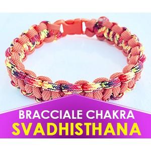 """Bracciale Chakra ARANCIONE """"Svadhisthana"""" in Paracord (Spedizione Gratuita)"""