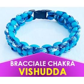 """Bracciale Chakra AZZURRO """"Vishudda"""" in Paracord (Spedizione Gratuita)"""